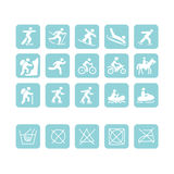 Icons for sport clothes design. Vector illustration Royalty Free Stock Images
