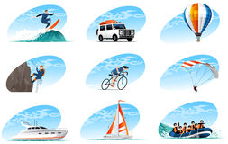 Icons Sports Stock Photography