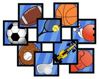 Icons sports. Creative design of icons sports Royalty Free Stock Images