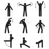 Icons sports and fitness. Silhouette of a person Royalty Free Stock Photos