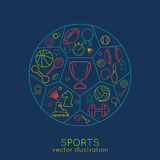 Icons sports line Stock Images