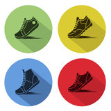 Icons sports shoes Royalty Free Stock Image