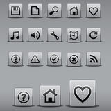 Icons in square shapes Royalty Free Stock Images
