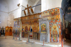 Icons in St.Barnabas Church in Northern Cyprus. The monastery of St Barnabas was founded on the site of the apostle Barnabas, and is a reminder of the important Royalty Free Stock Photos