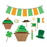 Icons for st.patrick`s day Stock Photo