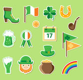Icons for St. Patrick's Day Royalty Free Stock Image