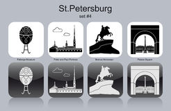 Icons of St.Petersburg Royalty Free Stock Image