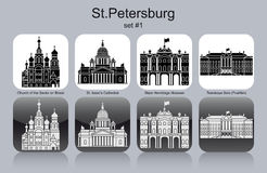 Icons of St.Petersburg Stock Photos