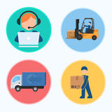 Icons. The stages of production.  Vector illustration Royalty Free Stock Photography
