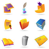 Icons for stationery Royalty Free Stock Images