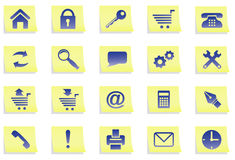 Icons on stickers. Royalty Free Stock Image