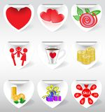 Icons on stickers Stock Images