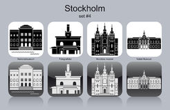 Icons of Stockholm Royalty Free Stock Photos