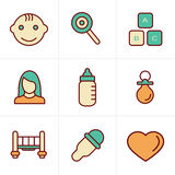 Icons Style  Baby  Icons Set Royalty Free Stock Images