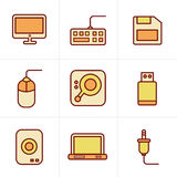 Icons Style Computer Icons Set Stock Photos