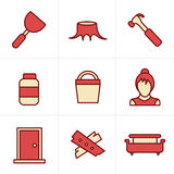 Icons Style  Icons set carpentry Royalty Free Stock Image