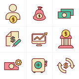 Icons Style Icons Style  Finance icon set,vector. Vector desing Icons Style Icons Style  Finance icon set,vector Royalty Free Stock Images