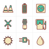 Icons Style Icons Style  vector black eco energy Stock Images