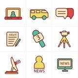 Icons Style News reporter Stock Photography