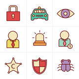 Icons Style Security icon set. On white background Stock Photography