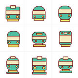 Icons Style Set of transport icons Royalty Free Stock Image