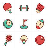 Icons Style Sport icons Set Royalty Free Stock Image