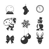 Icons on a subject Christmas for your design Royalty Free Stock Photography