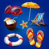 Icons summer Royalty Free Stock Photos