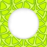 Icons summer only exLiPa SEAM 17-X CUT mesh circles. Greeting card background. Paper cut out, white shape with place for text. Frame with seamless pattern Stock Photo