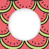 Icons summer only exLiPa SEAM 17-X CUT mesh circles. Greeting card background. Paper cut out, white shape with place for text. Frame seamless pattern. Seamless royalty free illustration