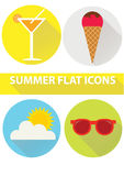 Summer flat  icons. Summer flat design icon for web,print Stock Photo