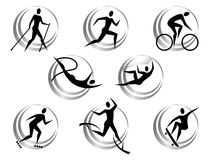 Icons of summer sports Royalty Free Stock Photo