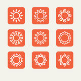 Icons - the sun Royalty Free Stock Image