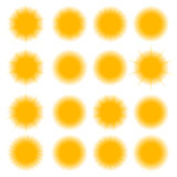 Icons of the sun, vector illustration. Stock Photography