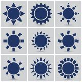 Icons suns Stock Photos