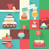 Icons sweet  dessert Stock Photo