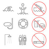 Icons for swimming pools Stock Photography
