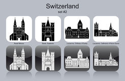 Icons of Switzerland Royalty Free Stock Photography