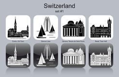 Icons of Switzerland Stock Image
