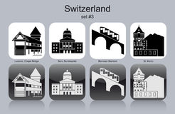 Icons of Switzerland Stock Photography