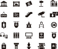 Icons symbolizing museum and art Royalty Free Stock Photo