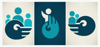 Icons and symbols collection Stock Images