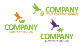 Icons and symbols for the companies and firms. Stock Photo