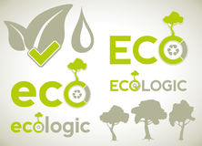 Icons and symbols for ecology infographics Royalty Free Stock Photos