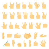 Icons and symbols, hands wrist, gestures signals signs Royalty Free Stock Photos