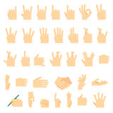 Icons and symbols, hands wrist, gestures signals signs Stock Photo