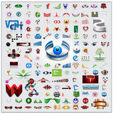 Symbols and icons set Royalty Free Stock Photography
