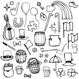 Icons symbols Patrick's Day Royalty Free Stock Photo