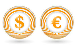 icons with symbols Royalty Free Stock Photo