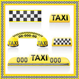 Icons are symbols of taxi Royalty Free Stock Photo